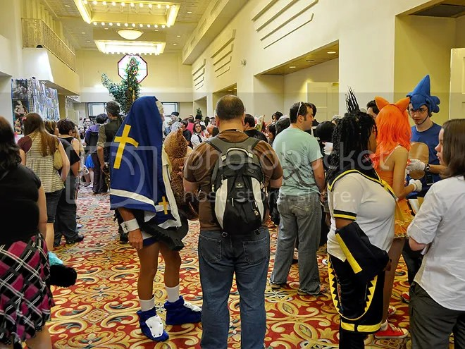 Lots of cosplayers