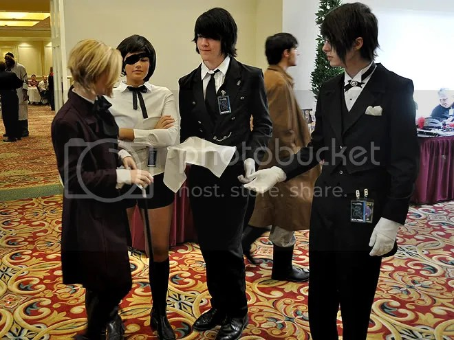 The 黒執事 (Kuroshitsuji) or Black Butler crew.