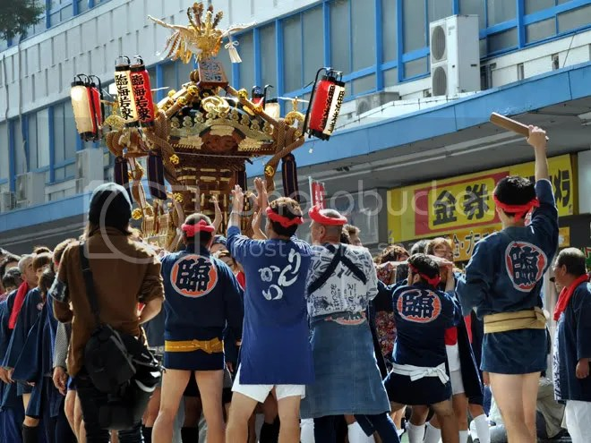 Mikoshi parade is a pants-free event!