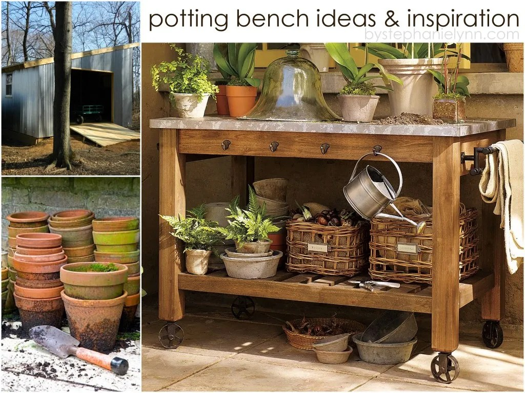 how to build a simple potting bench
