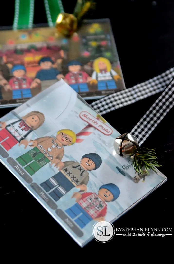 LEGO Minifigure Family Ornaments Free Personalized