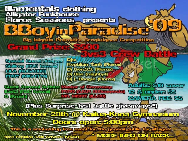 OFFICIAL BBOY IN PARADISE FLYER FRONT