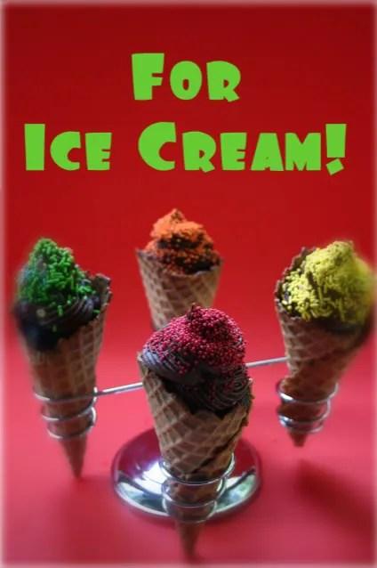It's an icecream! NO it's a cupcake!