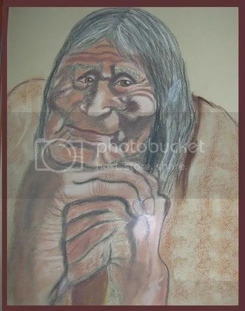 filthy old woman photo: the wise one/ painting by Sieglinde Hartmann WISEONE.jpg