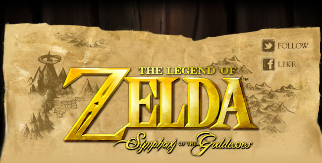 The Legend of Zelda: Symphony of the Goddesses Logo