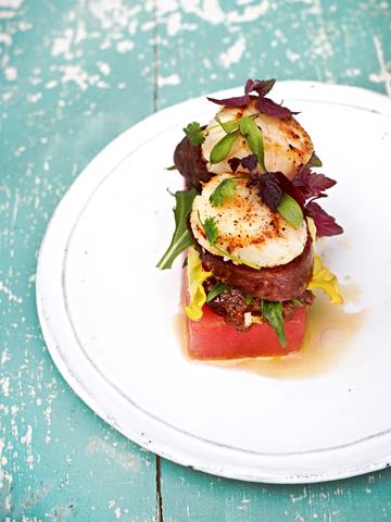 Scallops Watermelon