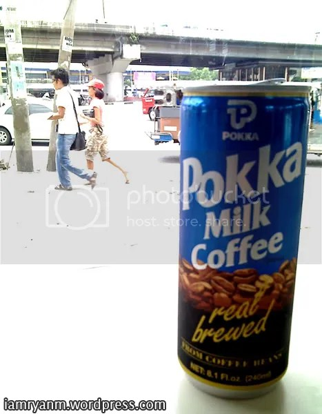 My newest favorite drink in the whole universe: Pokka Milk Coffee!