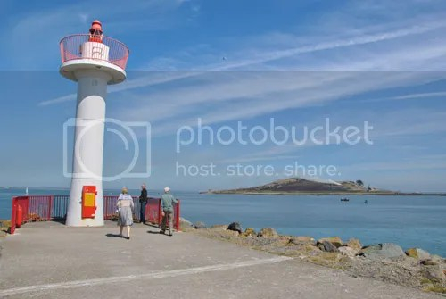 Howth lighthouse and Irelands Eye
