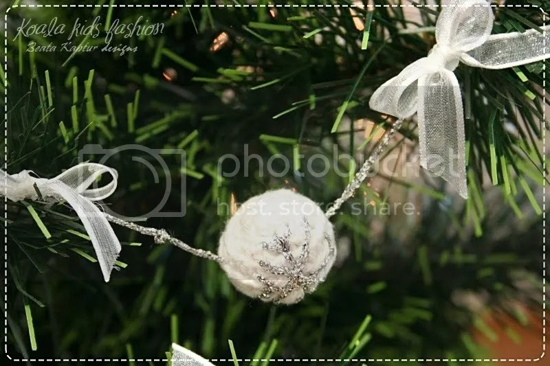 silver ball garland