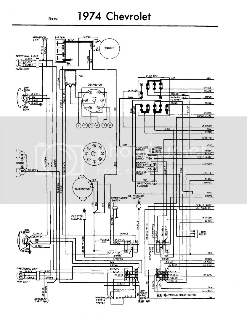 Chevy Nova Turn Signal Wiring Diagram