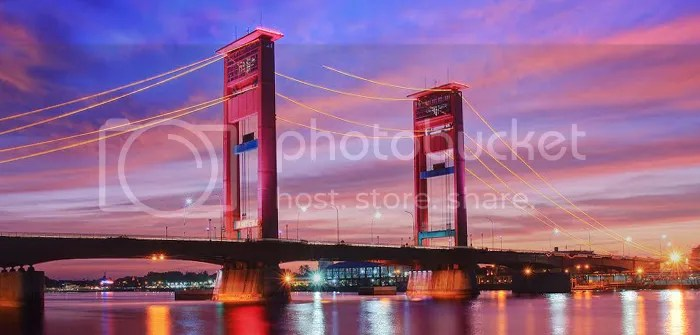 Ampera Bridge, South Sumatra, Indonesia