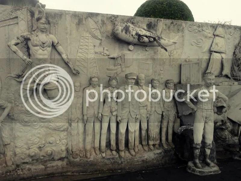 Wall reliefs in Monas, Jakarta, Indonesia