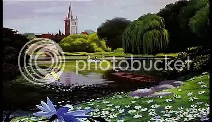 Paesaggio alice nel paese delle meraviglie disney