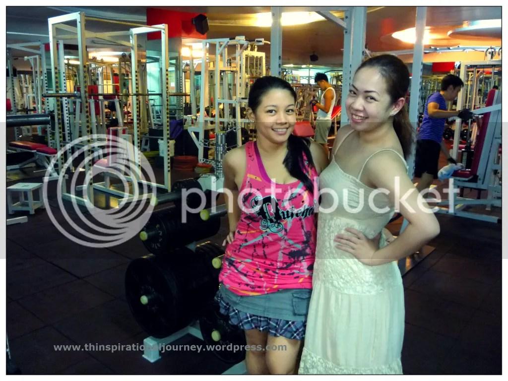 Lara Novales and Angela Balagtas at Eclipse Gym