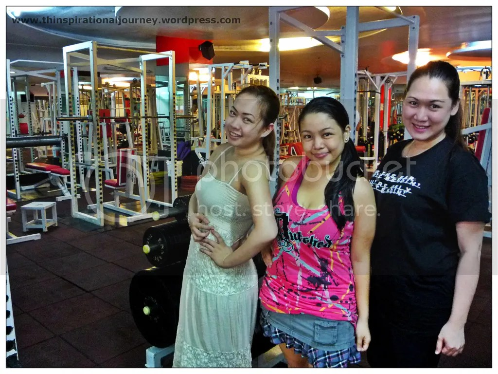 Angela Balagtas, Lara Novales, and Malou at Eclipse Fitness Center Manila