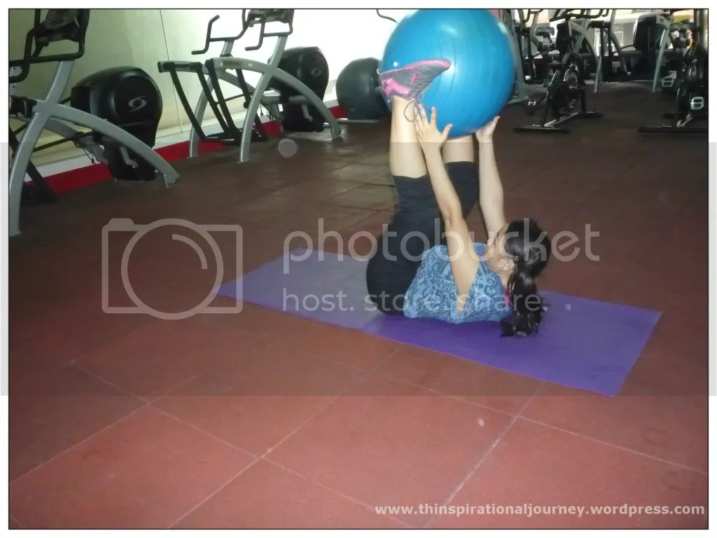 Stability Ball Jack knife sit Up