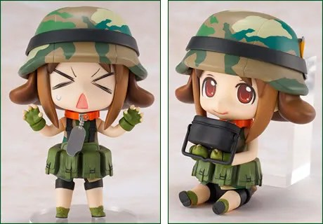 Various pose (and expression) of Nendoroid Army-san