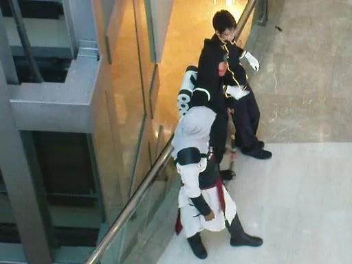 Cosplay Assassins Creed, Naruto, dan Code Geass