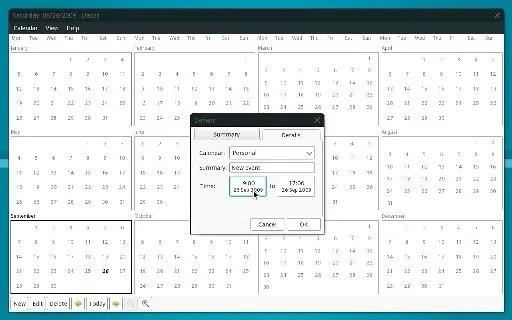 Aplikasi pengelola jadwal, Calendar