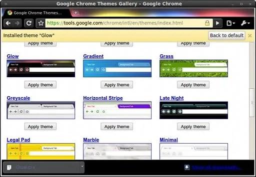 Fitur theme juga hadir pada Google Chrome untuk Linux