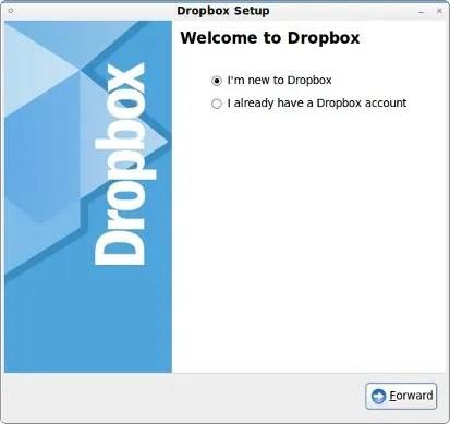 Registrasi akun Dropbox