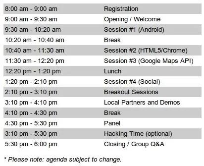 Agenda Google DevFest 2010 di Universitas Binus, Jakarta