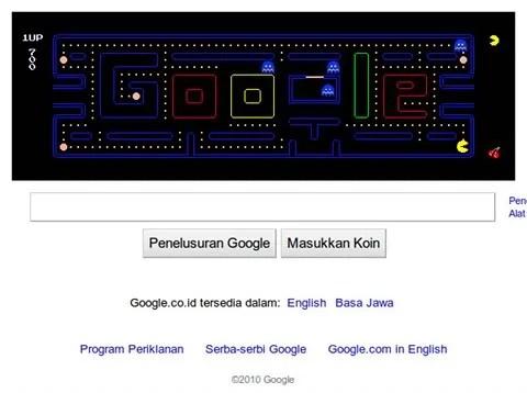 Mainkan PAC-MAN di situs Google