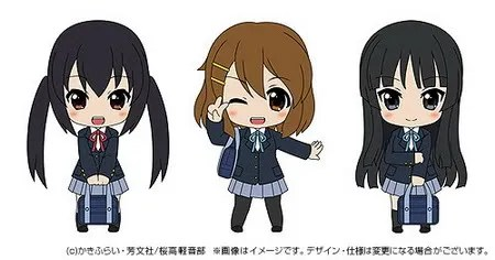 Drawing of Nendoroid Petit K-ON! TBSishop & LAWSON Exclusive version