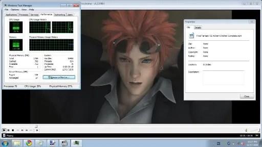 Memutar video H.264 1080p lancar (klik untuk perbesar)