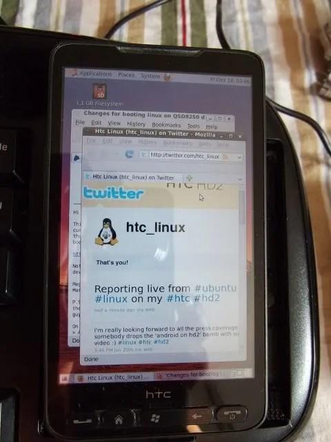 Ubuntu pada HTC HD2