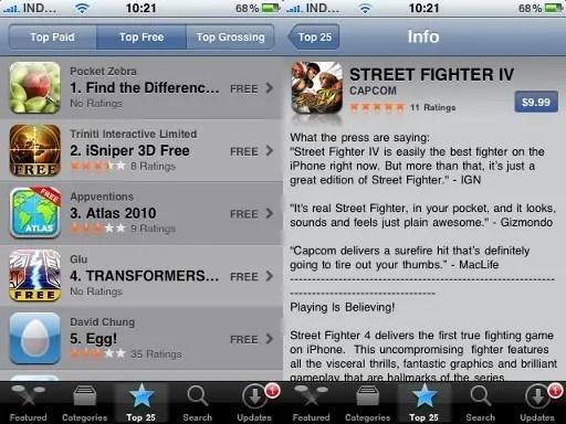 Tampilan App Store