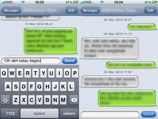 Manajemen SMS pada iPhone