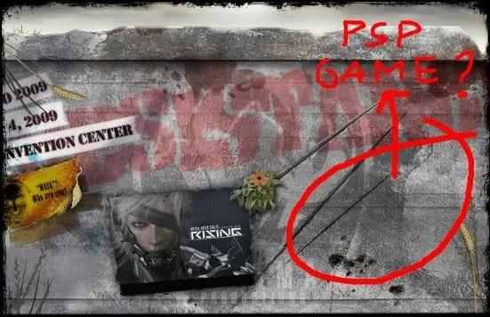 Ruang kosong di sebelah MGS: Rising - untuk game baru PSP?