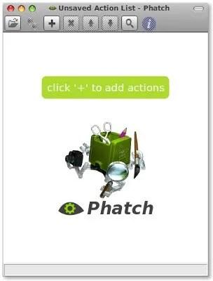 Tampilan aplikasi Phatch