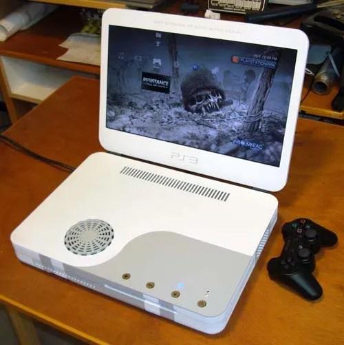 Laptop yang dibuat dari PS3 Slim