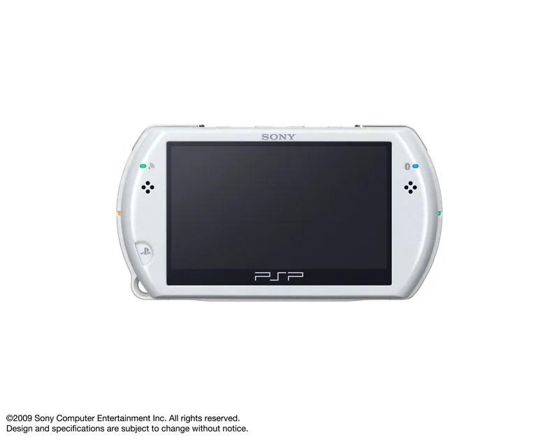 PSP Go warna putih tampak depan
