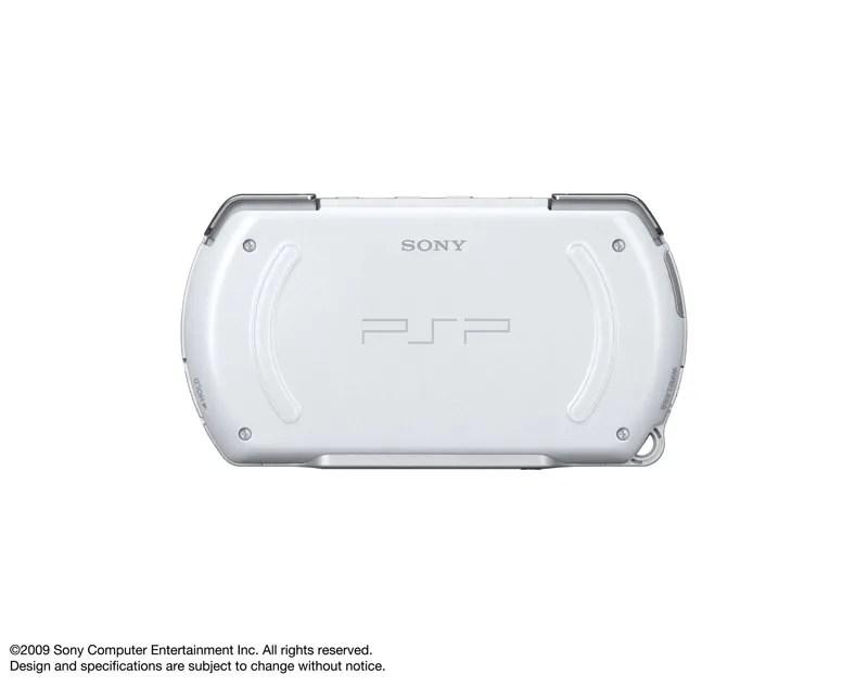 PSP Go warna putih tampak belakang