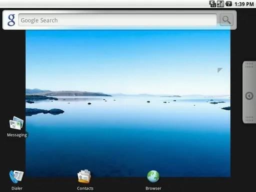 Tampilan Home Screen pada Google Android