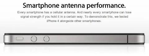 Penjelasan masalah sinyal dan antena di situs resmi Apple
