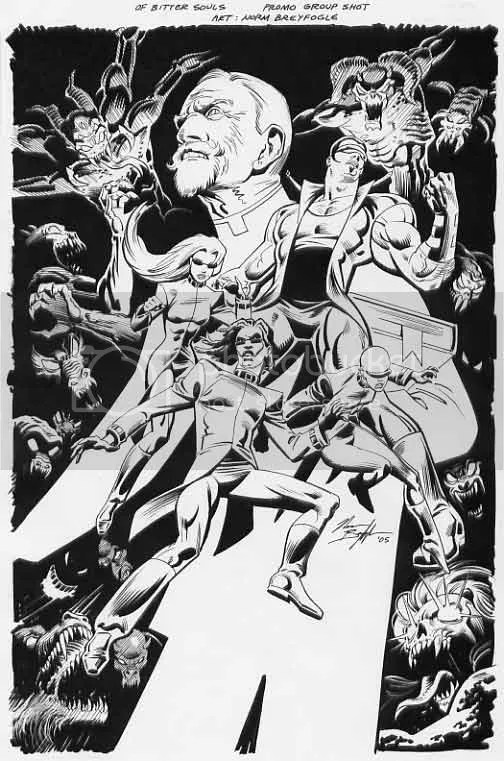Promo art for Of Bitter Souls, courtesy of Norm Breyfogle