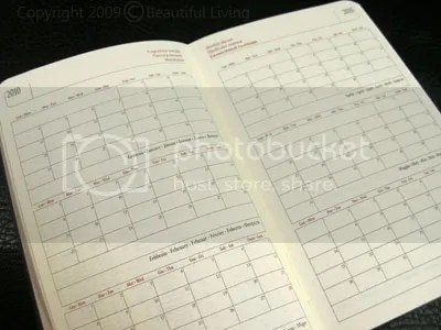 Cartesios monthly planning calendars are in a box style that makes it easy to see your appointments at a glance. There is not a lot or room for lengthy appointments, but enough room for small comments or symbols.