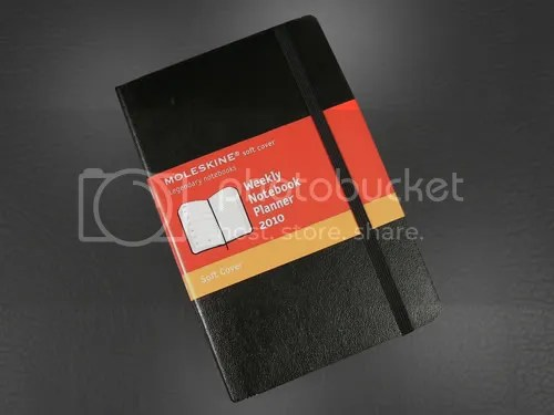Moleskine 2010 Soft Cover Pocket Weekly Planner.