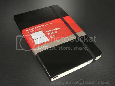 Moleskines Panoramic Planner is a New Style for 2010.