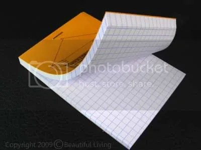 Each Paul Smith notepad features Rhodias smooth, gridded paper.