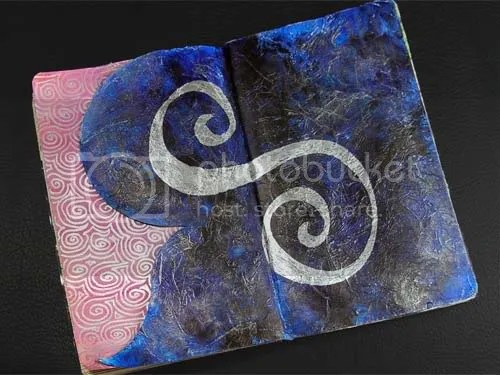 The Letter S was Created with Metallic Marker and Lots of Background Texture.