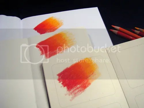 Color blends were created on the paper in a Moleskine Sketchbook, Plain Notebook and Ciak Sketchbook.
