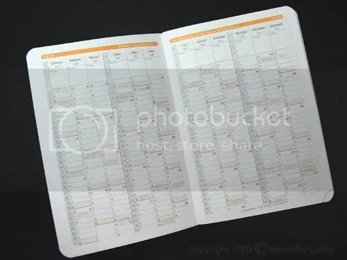 2010 and 2011 monthly planning calendars show the entire year at a glance.