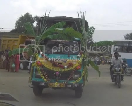 Happy Poojafied Truck