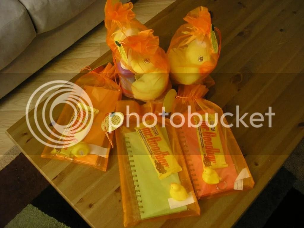A sample of door gifts