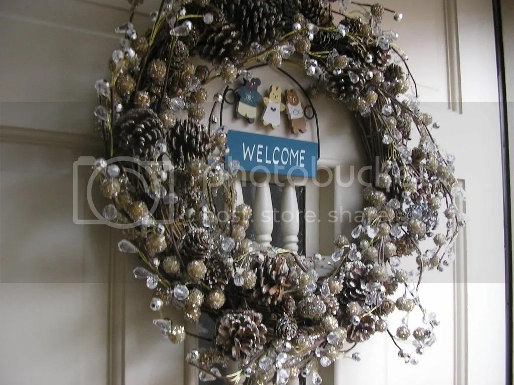 Our Christmas Wreath on our front door